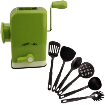 Multifunctional Meat Grinder (Chartreuse) With Heat Resistance Plastic Ladle 6-Piece Set (Black) Price Philippines
