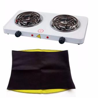 Harga Best Quality 1000W Double Burner Hot Plate Electric Cooking YQ-2020B WITH Hot shapers slimming unisex waist belt