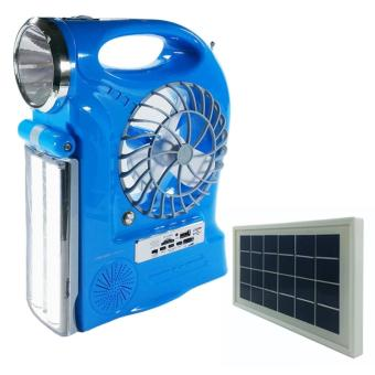 Harga Lucky Light Rechargeable Fan Mini Solar LL-5859F