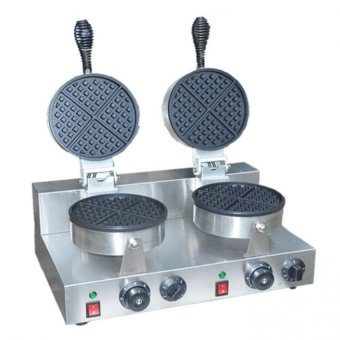 Non Stick Belgian Waffle Maker FY-2 Double Plate Baker (Silver) Price Philippines