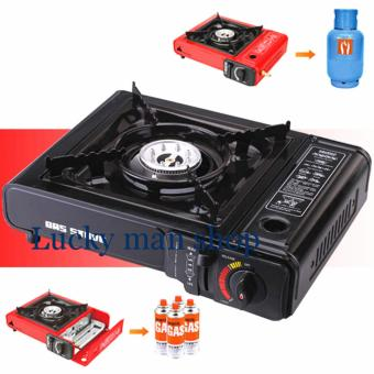 Harga AS SEEN ON TV 3 IN 1 Cassette Cooker Portable Gas Stove With box black