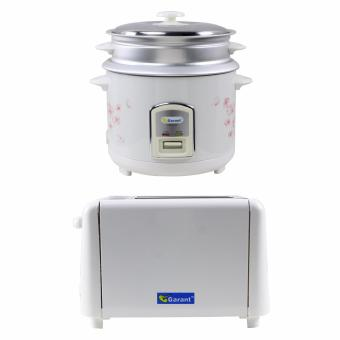 Garant GRC-812M Rice Cooker 1.8L with Garant GBT-120 Bread Toaster Price Philippines