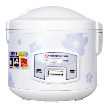 Harga 3D RC70AN 1.8L Rice Cooker (White)