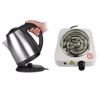 Harga K&E Electric kettle With Free Electric Hot Plate