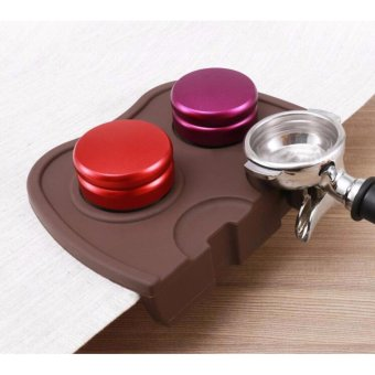 Harga Espresso Coffee tamper mat Silicon corner mat(no coffee stamper) Black/Coffee - intl