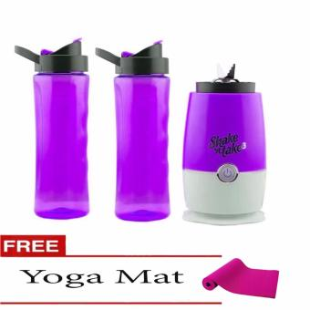 Shake N Take 3 (Violet) with Free Yoga Mat (Color May Vary) Price Philippines