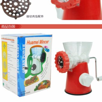 (Imported)CZKDJ Multifunctional Stainless Steel Meat Grinder HandStand Mixer Crank Sausage Stuffer Pasta Maker - intl Price Philippines