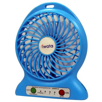 Iwata CM16RHF-03 Portable Rechargeable Fan with USB Power Bank Function (Blue) - 3