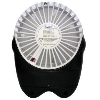 Iwata CM16RHF-07 Portable Rechargeable Fan (White) - 4
