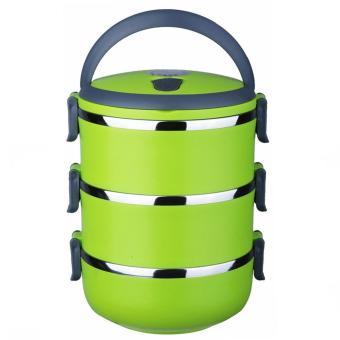 J&J 3 Layers Stainless Steel Lunch Box Thermal Insulated Handlewith FREE Nicer Dicer Plus Speedy Chopper - 2