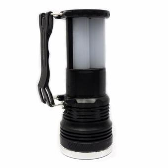 J&J High Quality YJ-2881T Solar and Rechargeable PortableLamp/Flashlight (Black) - 3