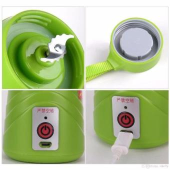 J&J Rechargeable USB Electric Fruit and Vegetable Blender CupJuicer Extractor 380mL (Green) - 2
