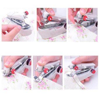 Jiayiqi DIY Manual Handheld Portable Mini Expert Sewing Machine Home Needlework Cordless (White) - intl - 2