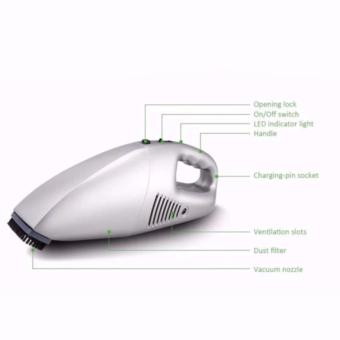 K&E Rechargeable Car Vacuum Cleaner (Silver) - 4