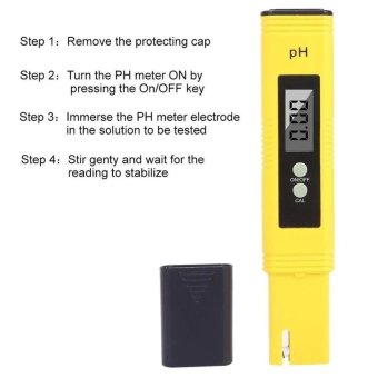 KCmall Digital PH Meter, PH Tester With ATC,0.02 PH High Accuracy,0.00-14.00 PH Measurement Range,Water Quality Tester,Auto Calibration - intl - 5