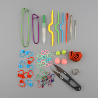 Knitting Tools Crochet Yarn Hook Stitch Accessories Supplies With Case Kit Gift - 5