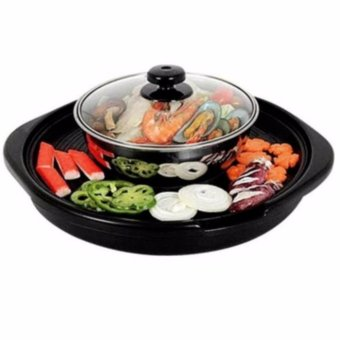 Korean Style Multifunction Electric Hot Pot And Grill 2 In