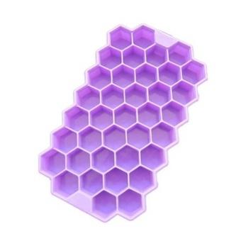 Kuhong Ice Cube Tray Honeycomb Ice Lattice Mold With Cover Frozen Ice Cream - intl - 2