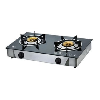 Kyowa KW3562 Glass Top Double Burner Gas Stove