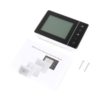 LCD Digital Touch Screen Temperature Controller Programmable AirConditioner Thermostat Black - intl - 2