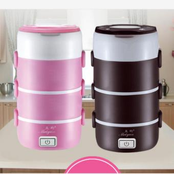 Leyi 2.2L Small appliances Round Mini Rice Cooker 4 Layer ElectricLunch Box Electronic Heating Lunch Box - intl - 2