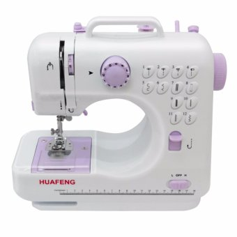 LHR FHSM-505 Pro Upgraded 12 Function Mini Portable Handheld Sewing Machine (White/Violet)