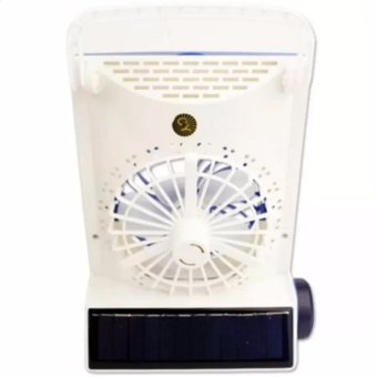 LOVE&HOME 3-in-1 Solar Power Rechargeable LED LightFan(Gold/Blue) Set of 2 - 3