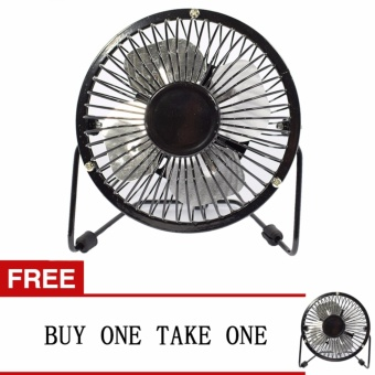 LOVE&HOME Metal 4 Fanblades USB Mini Cooling Fan Buy One Take One (Black)