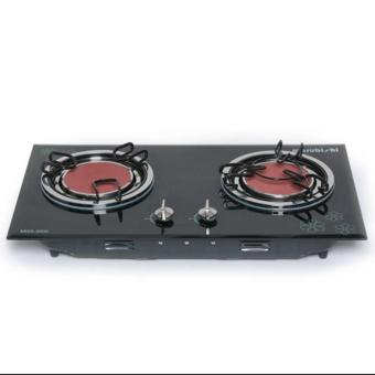Marubishi MGS-3500 Double Burner Infrared Glass Gas Stove(Black/Silver) Price Philippines