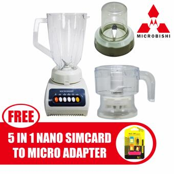 Microbishi Fruit Blender 3IN1 #MJB-9993/MHJB-115 1.5L with freeNano SIM Adapter Nano to Micro SIM Micro SIM to Standard SIM CardAdapter 5 IN 1 Tools Kit Price Philippines