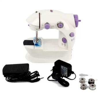 Microbishi MSM-202A There is Light 2-Speed Mini Electric SewingMachine Kit (White/Lavender) - 3