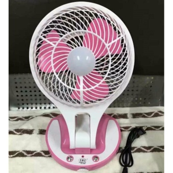 Mini Fan Electric Portable Rechargeable Desktop Fan 2-Speed Can BeSuspended Fan with Led Light JR5580