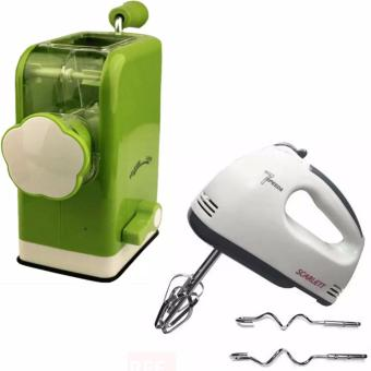 Multifunctional Meat Grinder (Chartreuse)With Scarlett HE-133 Professional Electric Whisks Hand Mixer (White)