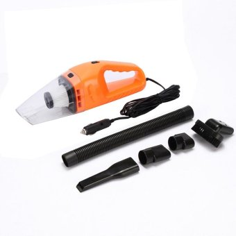 niceEshop Handheld Car Vacuum Cleaner 120W, 12V Portable Mini Wet/Dry Auto Vehicle Vacuum Dust Buster With 16.4FT (5M) Power Cord With Cigarette Lighter, 4000PA Suction High Power Hand Vac (Orange) - intl