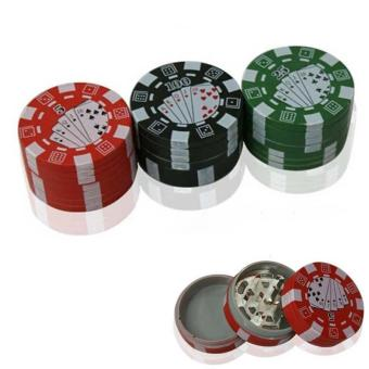 Poker Chip 3 Layers Tobacco Herb Grinder - intl
