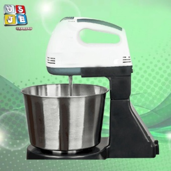 Portable 7 Speed Baking Hand Mixer With Detachable Stainless Steel Bowl