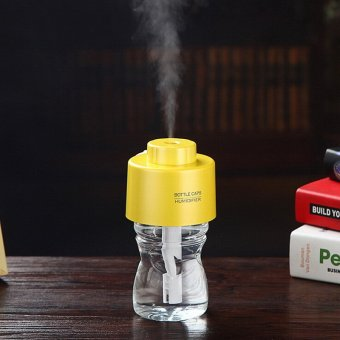 Portable Bottle Cap Air Humidifier with Bottle (Yellow) (Intl) - picture 2