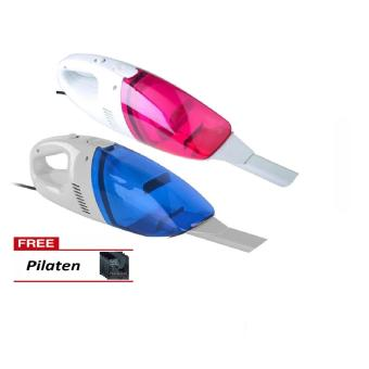 Portable Car Vacuum Cleaner  (pink/blue) with FREE Pilaten