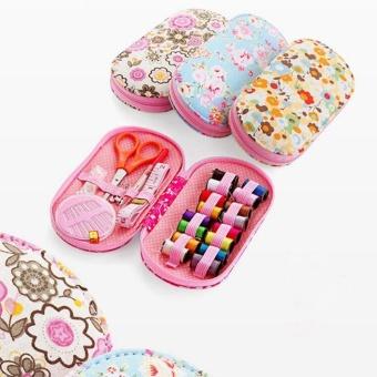 Portable Mini Sewing Kit Box with Needle Threads Pin Scissor - intl - 3