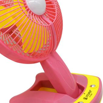 Portable Rechargeable Mini Fan with LED Light JY-5590 (Pink) - 4