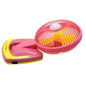 Portable Rechargeable Mini Fan with LED Light JY-5590 (Pink) - 3