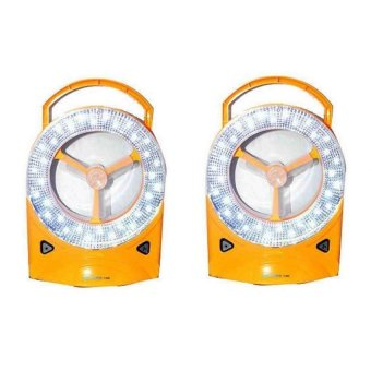 Rechargeable LED Light with Fan Set of 2 (Yellow)