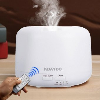 Remote Control 300ML Ultrasonic Air Aroma Humidifier with 7 Color Lights Electric Aromatherapy Essential Oil Aroma Diffuser - intl