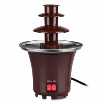 Rukia Mini Chocolate Fountain (Brown) with Cake Pop and CupcakeStand - 2