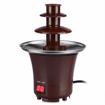 Rukia Mini Chocolate Fountain (Brown) with Cake Pop and CupcakeStand - 3