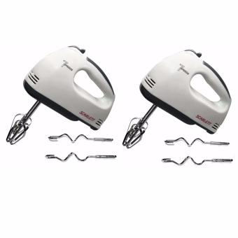 Scarlett Professional Electric Whisks Hand Mixer (White) Set of 2