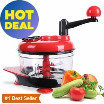 SDP Hand-Powered food processor Baby Multi Vegetable chopper withsuction base and water throw-off basket Meat Grinder Fast SalsaMaker Food Mixer Blender to Chop Meat Fruits Vegetables Nuts HerbsOnions Garlics - intl