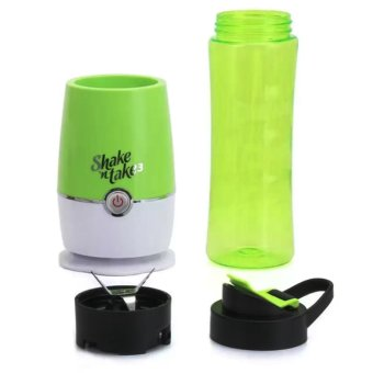 Shake N Take 3 Tumbler and Blender 16oz (Green) Free Outdoor SolarPower 2 in 1 Rechargeable Camping Lantern (Gold) - 4