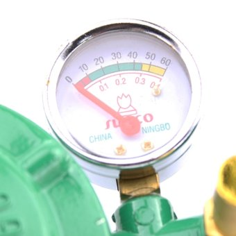 Sunco LPG Regulator with Pressure Gauge (Green) - 3