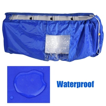 TMISHION Air Conditioner Cleaning Dust Washing Cover WaterproofProtector (Blue Color L) - intl - 3